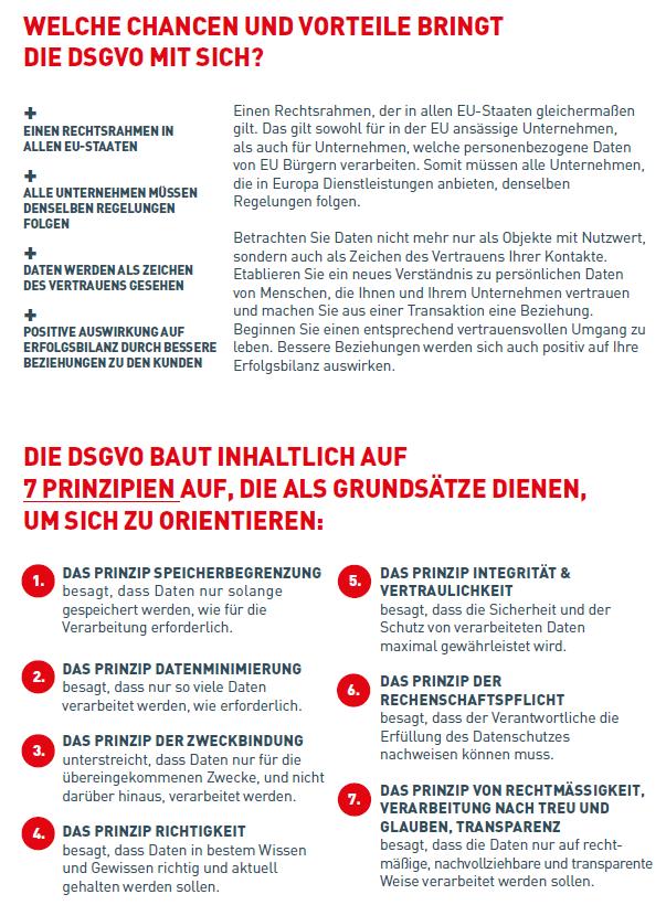 EU-DSGVO Grundprinzipien