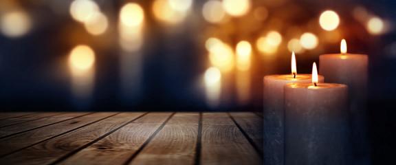 Kerzenschein zu Weihnachten